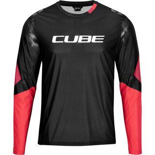 Cube Edge Rundhalstrikot langarm black´n´red