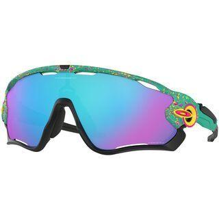 Oakley Jawbreaker Prizm Splatter Fade Collection, celeste/Lens: prizm sapphire - Sportbrille