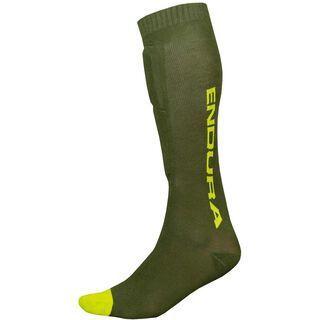 Endura SingleTrack Shin Guard Sock forest green