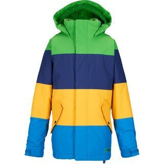 Burton Boy's Symbol Jacket , C-Prompt/Deep Sea/Yolky/Mascot - Snowboardjacke