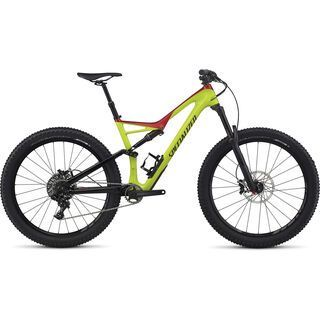 Specialized Stumpjumper FSR Comp Carbon 6Fattie 2017, hy green/red/black - Mountainbike