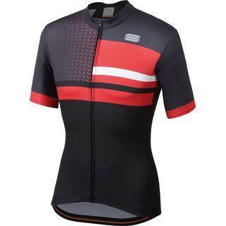 Sportful Team 2.0 Drift Jersey, black/anthracite/red - Radtrikot