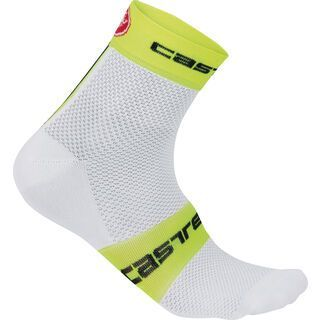 Castelli Free 6 Sock, white/yellow fluo - Radsocken