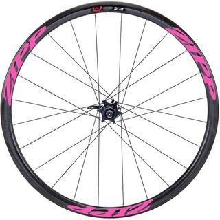 Zipp 202 Firecrest Carbon Clincher Disc-brake, schwarz/pink - Vorderrad
