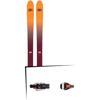 Set: DPS Skis Wailer F99 Foundation 2018 + Salomon STH2 WTR 16 black/orange