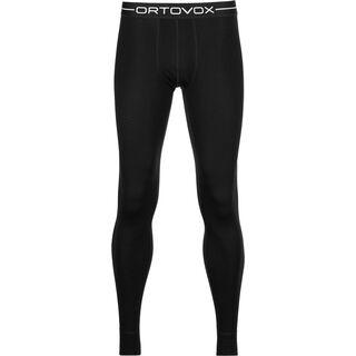 Ortovox Merino 185 Long Pants, black raven - Unterhose
