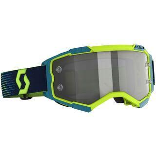 Scott Fury LS Goggle, neon yellow/blue/Lens: light sensitive grey wks - MX Brille