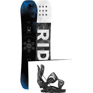 Set: Ride Berzerker 2017 + Flow Fuse 2017, black - Snowboardset