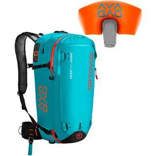 Ortovox Ascent 28 S inkl. Avabag-Unit, aqua - Lawinenrucksack
