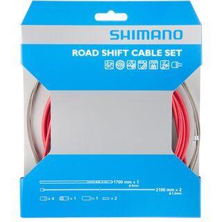 Shimano Road Sil-Tec beschichtet, rot - Schaltzugset