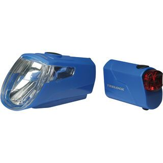 Trelock LS 360 I-Go Eco / LS 720 - Beleuchtungsset, blue