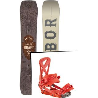 Set: Arbor Draft 2017 + Nitro Phantom 2017, diablo - Snowboardset