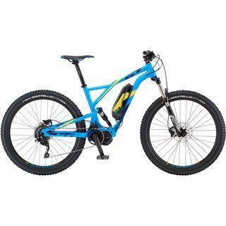 GT eVerb Current 2019, cyan w/ yellow & navy - E-Bike