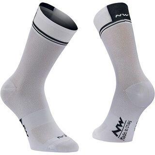 Northwave Logo 2 High Socks, white/black - Radsocken