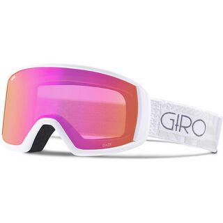 Giro Gaze, white pocket square/Lens: amber pink - Skibrille