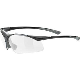 uvex sportstyle 223, black grey/Lens: clear - Sportbrille