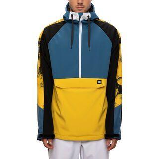 686 Men's Waterproof Anorak, blue storm colorblock - Snowboardjacke
