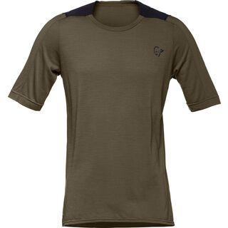Norrona skibotn wool equaliser T-shirt (M), dark olive - Radtrikot