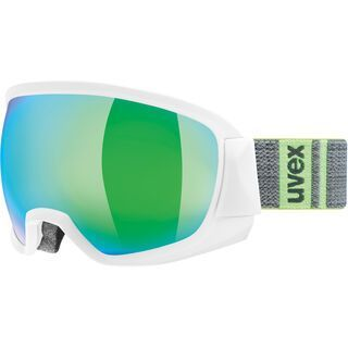 uvex contest FM, white mat/Lens: mirror green - Skibrille