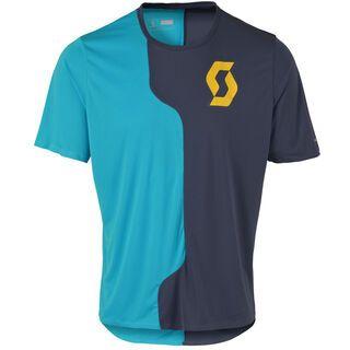 Scott Trail Tech s/sl Shirt, blue/blue - Radtrikot