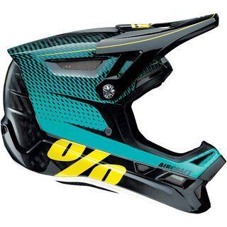 100% Aircraft DH Helmet, R-Core teal - Fahrradhelm