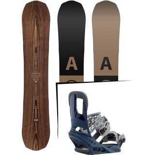 Set: Arbor Element Premium Mid Wide 2017 + Burton Cartel 2017, blue steel - Snowboardset