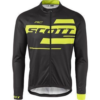 Scott RC Team 10 L/SL Shirt, black/sulphur yellow - Radtrikot
