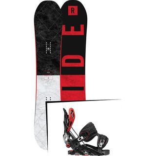 Set: Ride Machete GT 2017 + Flow Fuse-GT 2017, black/red - Snowboardset