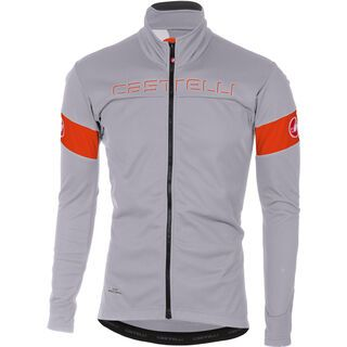 Castelli Transition Jacket, luna gray/orange - Radjacke