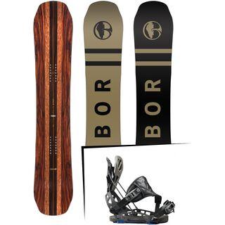 Set: Arbor Coda Camber Premium Mid Wide 2017 + Flow NX2-GT Hybrid 2017, black - Snowboardset
