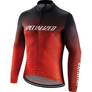 Specialized RBX Comp Logo Team Longsleeve Jersey, black/rocket red/red - Radtrikot