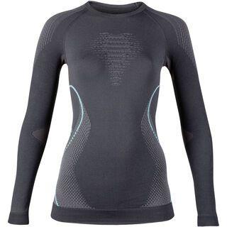 UYN Evolutyon Shirt Lady, anthracite/aqua - Unterhemd
