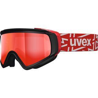 uvex Jakk TOP, black/Lens: mirror red - Skibrille