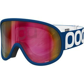 POC Retina Big, lead blue/Lens: persimmon red mirror - Skibrille