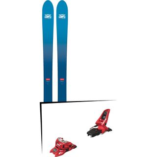 Set: DPS Skis Wailer F106 Foundation 2018 + Marker Squire 11 ID red