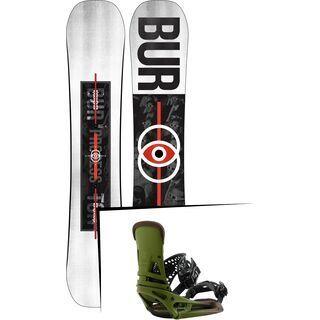 Set: Burton Process Flying V Wide 2019 + Burton Malavita EST camp on green