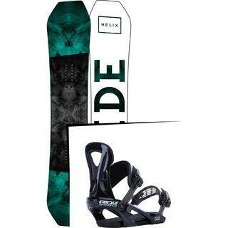 Set: Ride Helix 2017 + Ride LX 2015, black - Snowboardset