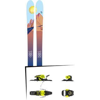 Set: Icelantic Oracle 88 2018 + Salomon Warden 11 yellow/black