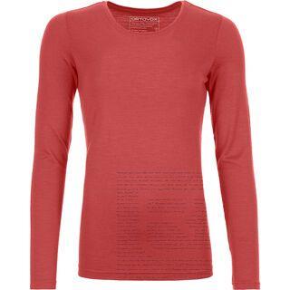 Ortovox 185 Merino Logo Long Sleeve W, blush - Unterhemd