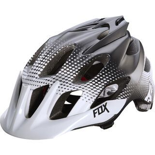Fox Flux Helmet, race white/black - Fahrradhelm