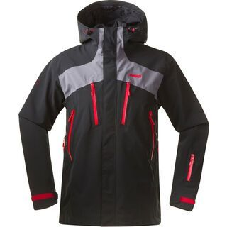 Bergans Oppdal Jacket, black grey red - Skijacke