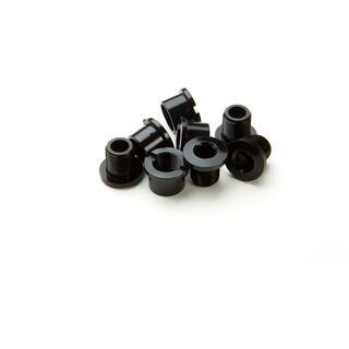 Race Face Bolt/Nut Pack Chainring Alu / Hex (4 Pack), black - Kettenblattschrauben