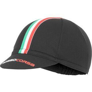 Castelli Rosso Corsa Cycling Cap, black - Radmütze