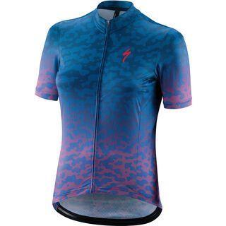 Specialized Women's RBX Comp Terrain Shortsleeve Jersey acid pink/pro blue