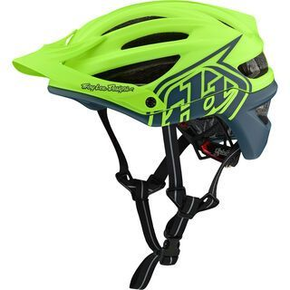 TroyLee Designs A2 Decoy Helmet MIPS, flo yellow/blue - Fahrradhelm