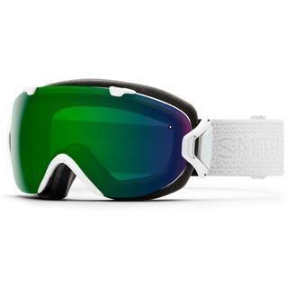 Smith I/OS inkl. Wechselscheibe, white mosaic/Lens: everyday green mirror chromapop - Skibrille