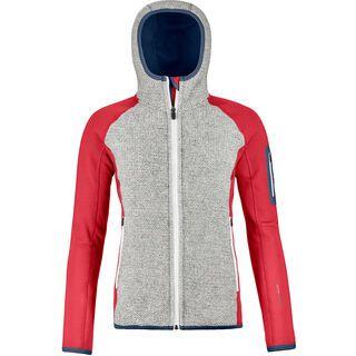 Ortovox Merino Fleece Plus Classic Knit Hoody W, hot coral - Fleecehoody