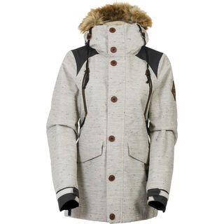 686 Womens Ceremony Jacket, ivory lattice - Snowboardjacke