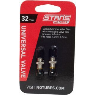 Stan's NoTubes Universal Ventil, Schrader 32 mm - 2 Stück