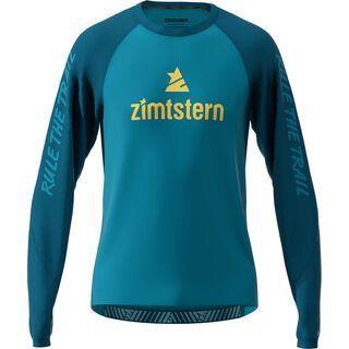 Zimtstern PureFlowz Shirt LS, steel/navy/mimosa - Radtrikot